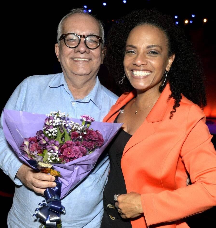 Artur Xexéo e Flavia Oliveira /Foto: Cristina Granato