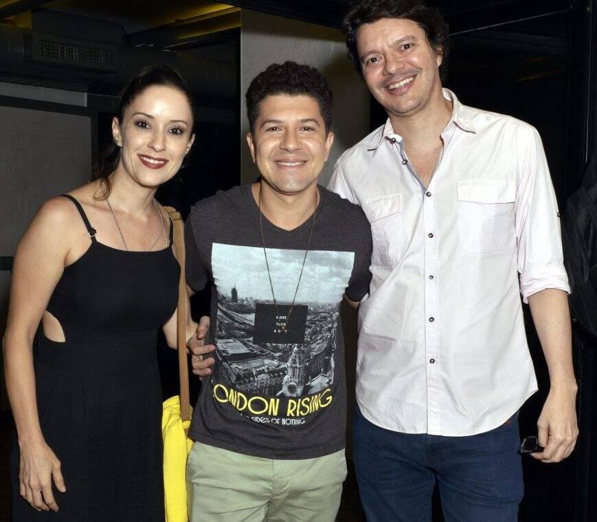 Mariana Rebelo, Paulo Mathias Jr. e  André Junqueira  - Fotos: Cristina Granato