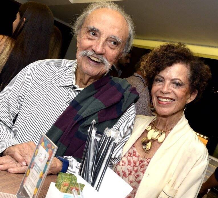 O casal Marialice e José Hugo Celidônio
