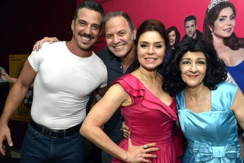 Carlos Bonow, Aloísio de Abreu, Françoise Forton e Andréa Dantas