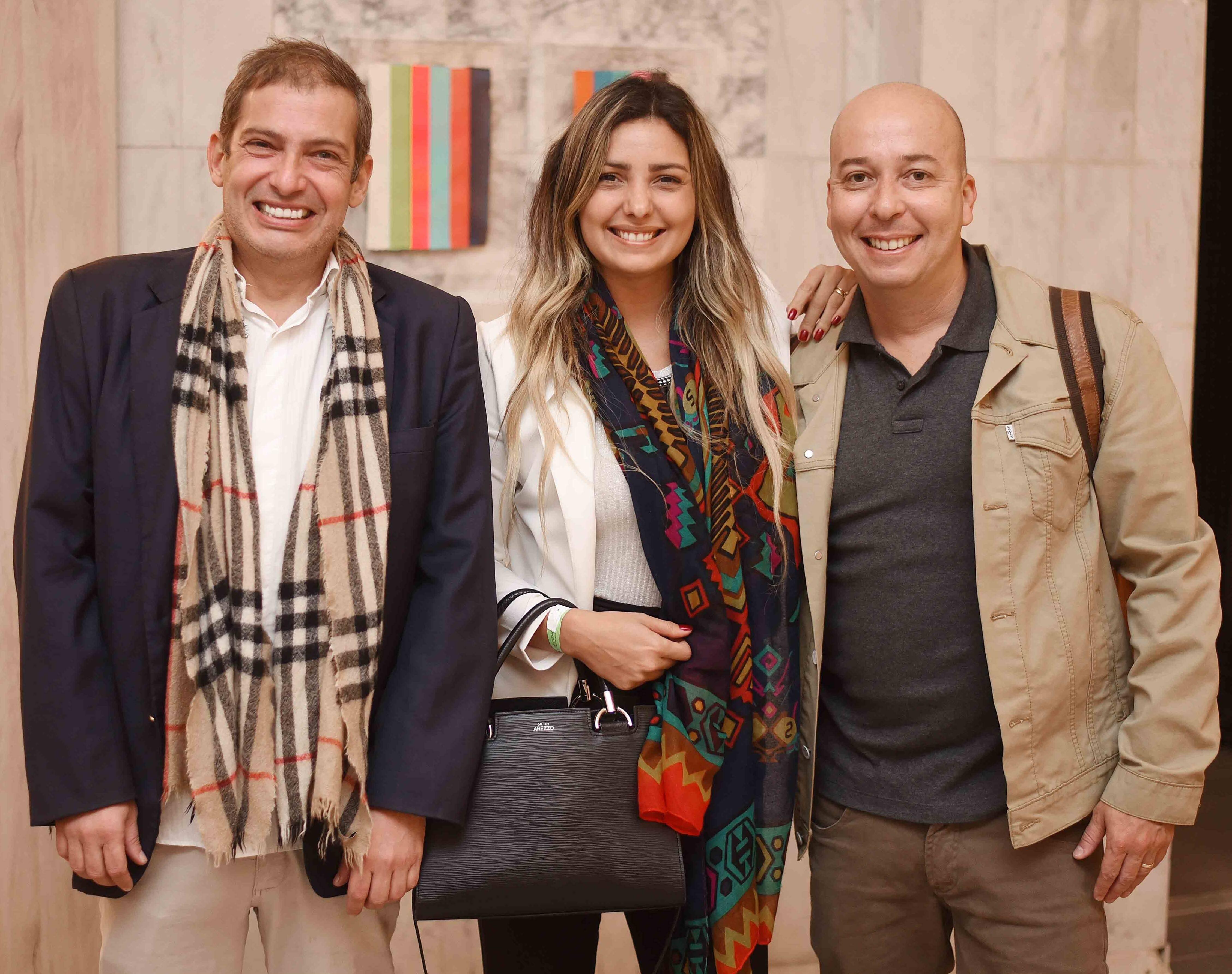 Pedro Schmidtt, Andrea e Peck Mecenas  /Foto: Ari Kaye