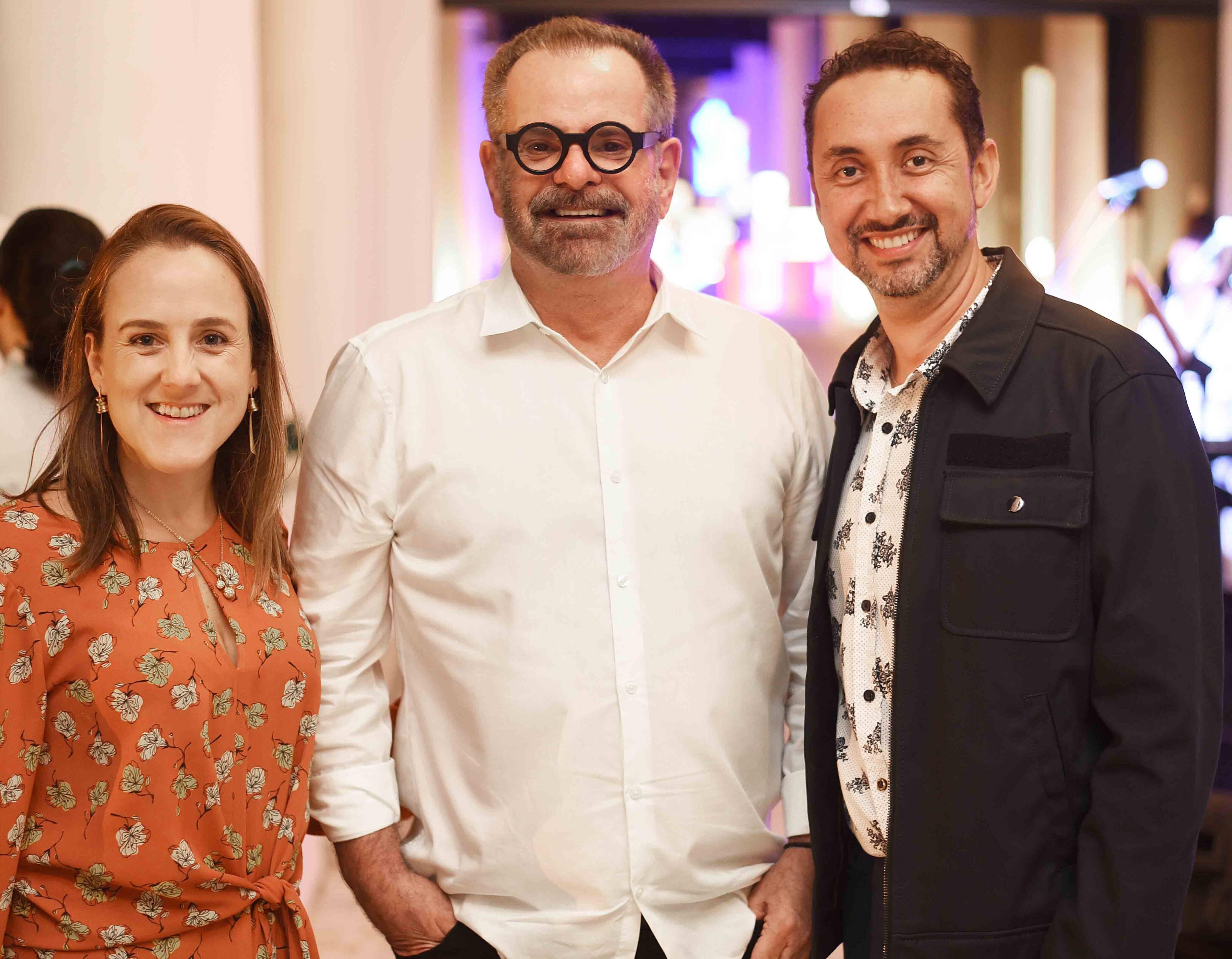 Roberta Nicolau, Eduardo Machado e Emerson Araujo  /Foto: Ari Kaye