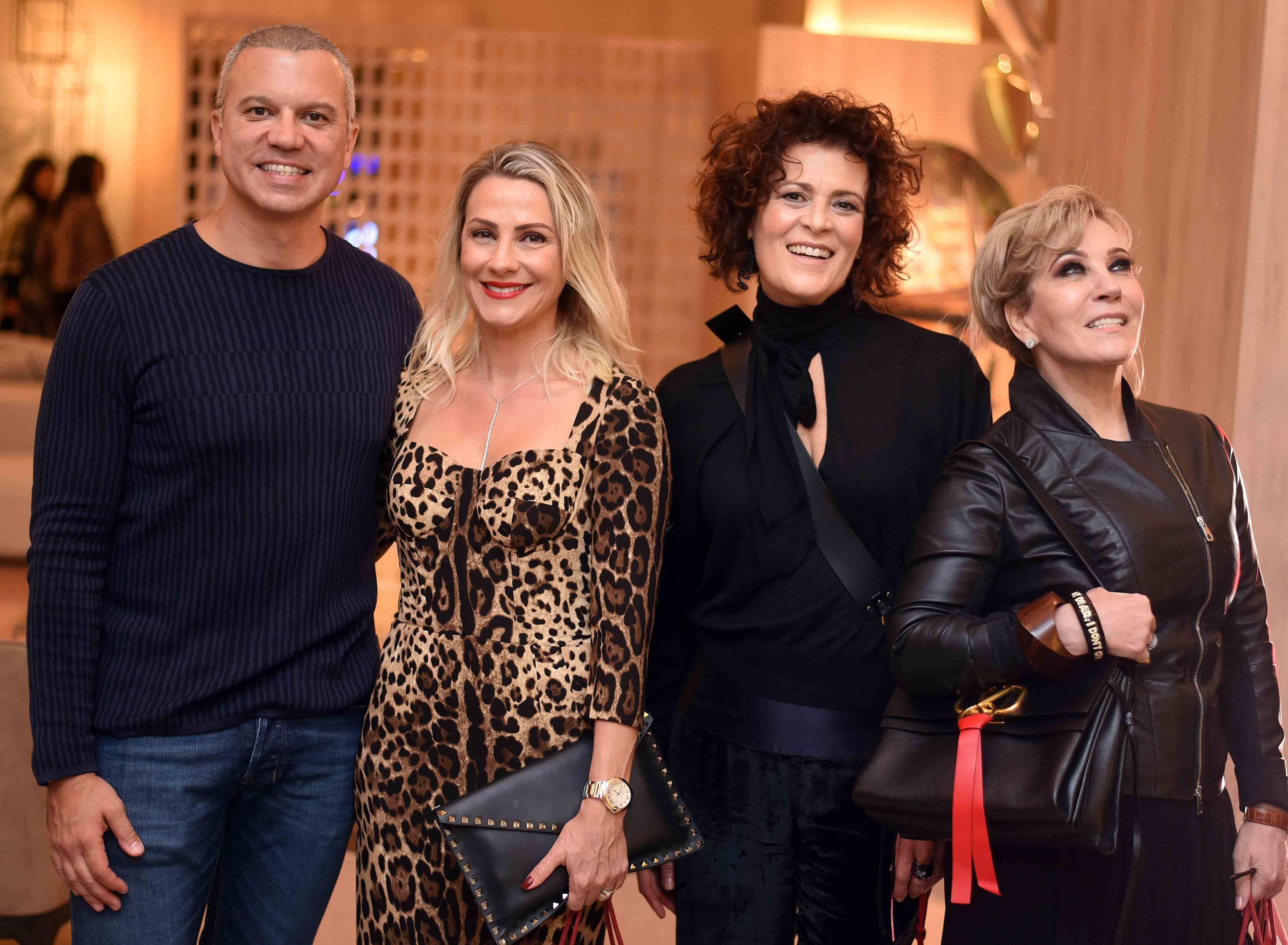 Ronaldo Barcellos, Aline Gomes, Magda Lajtman e Nina Sonsol  /Foto: Ari Kaye