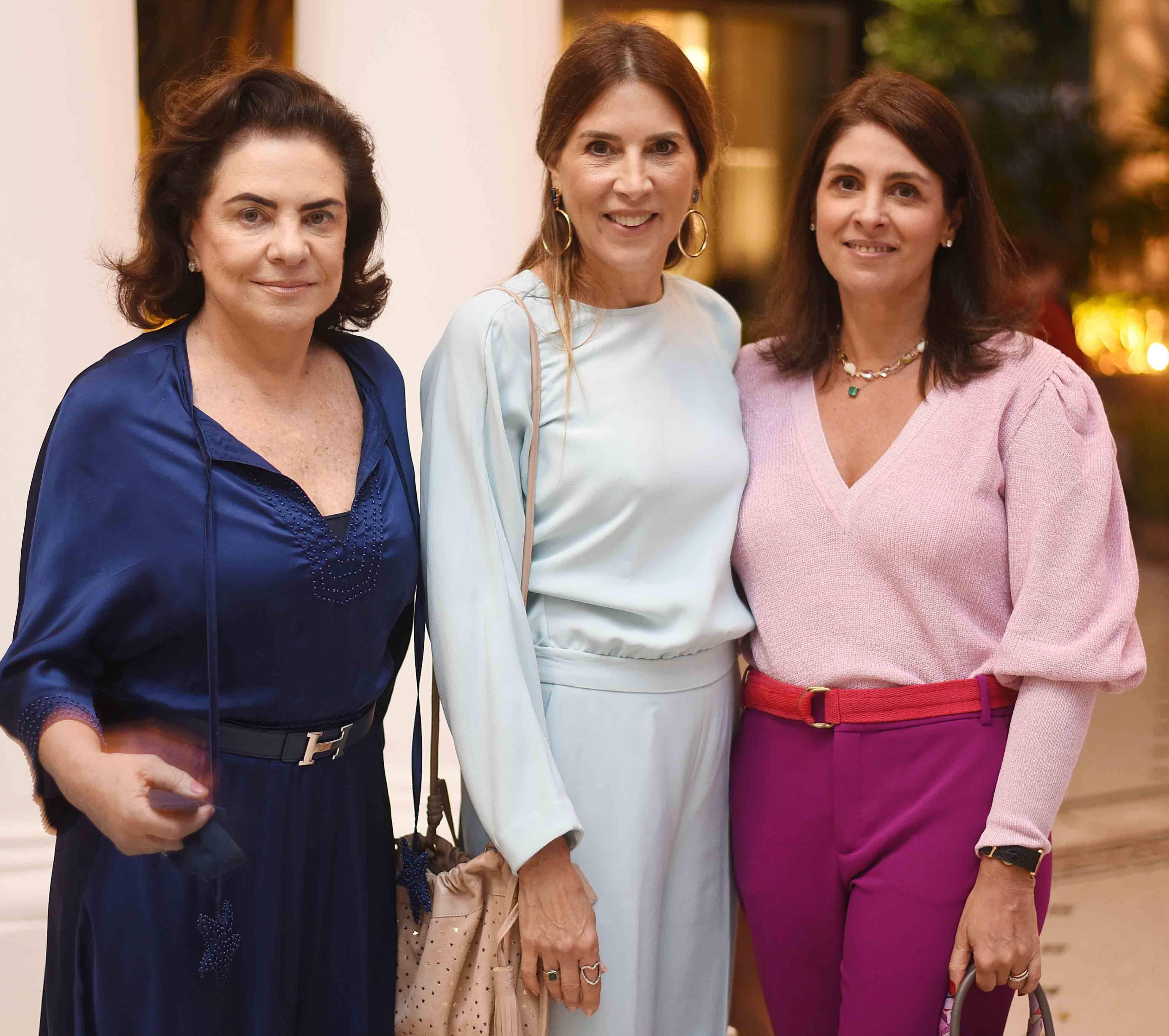 Cristina Burlamaqui, Claudia Souza Santos e Ana Gabriela Vianna  /Foto: Ari Kaye