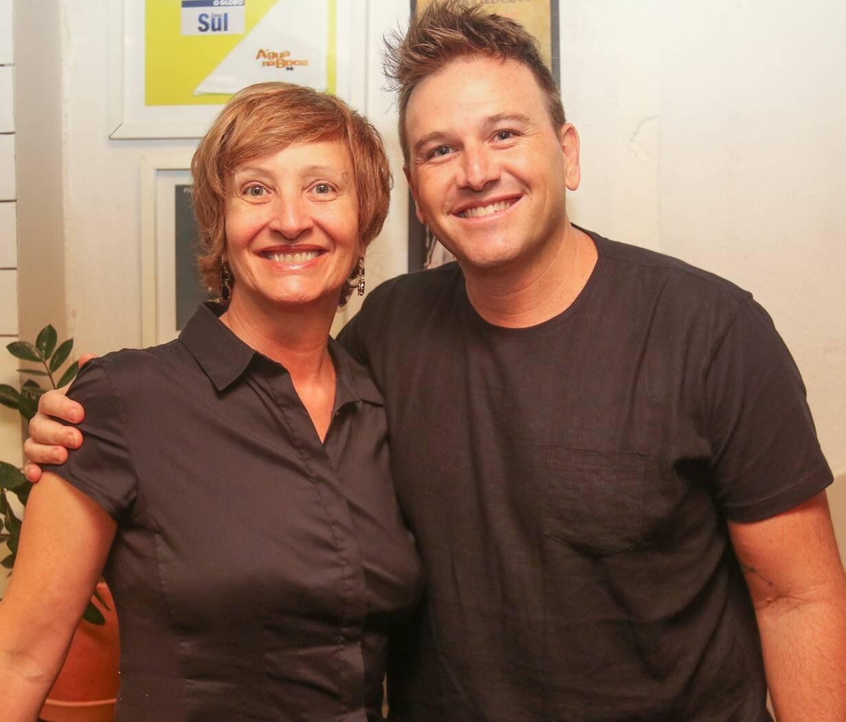 Sonia Bridi com o chef Pedro Siqueira  /Foto: Gianne Carvalho