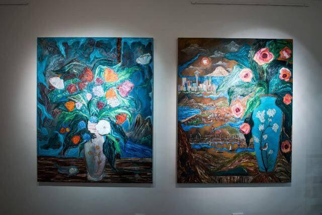 Alguns dos trabalhos de Ana Luiza Rego na exposição