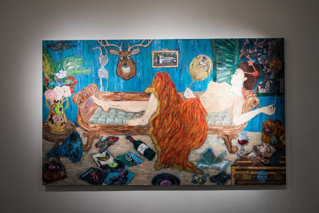 Um dos trabalhos de Ana Luiza Rego na exposição