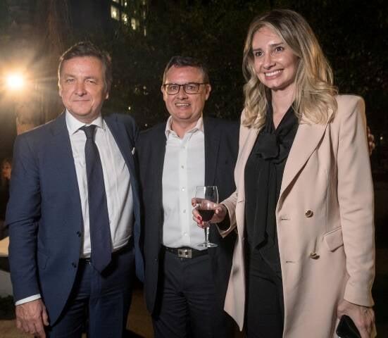 Patrick Sabatier, Jean Françoise Laborie e Carolina Stolf