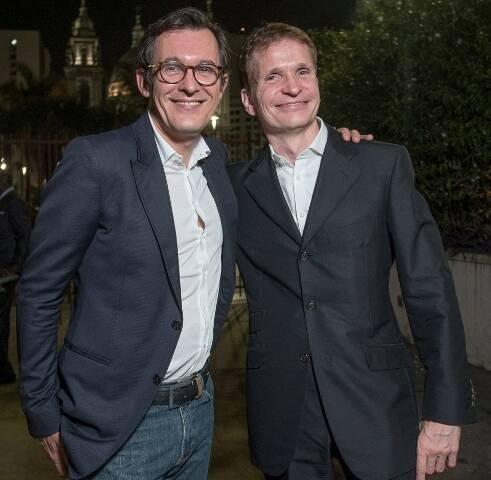 O embaixador da França no Panamá, Brice Roquefeuil, e o novo cônsul no Rio, Jean-Paul Guilaumé