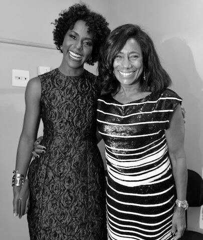Maju Coutinho e Glória Maria no III Prêmio Rio Sem Preconceito, em setembro de 2015