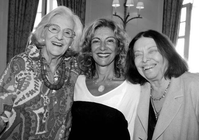 Bárbara Heliodora, Marília Pêra e Nélida Piñon no aniversário de Marília no Copacabana Palace, em janeiro de 2012