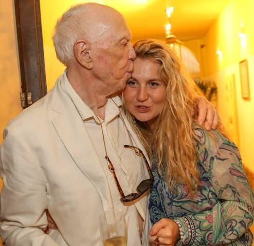 Jacques Louis Mercier com a filha Marie Mercier