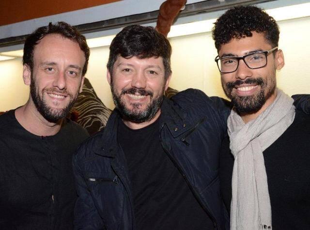 Guto Franco, Renato Morcatti e Vinicius Barros