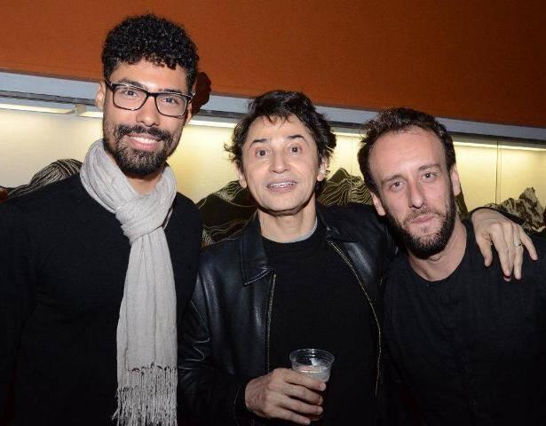 Vinicius Barros, Eucanaã Ferraz e Guto Franco