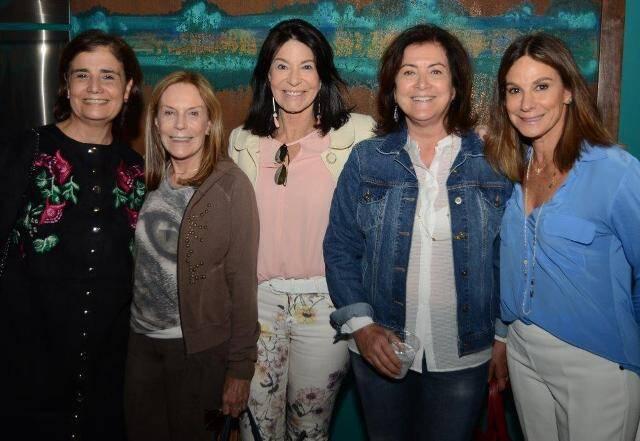 Kátia d'Avillez, Teresa Avaad, Teresa Aczel, Maria Lúcia Teophilo e Gabriela Matarazzo
