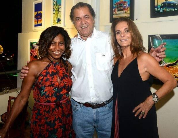 Glória Maria, Catito Peres e Patricia Secco