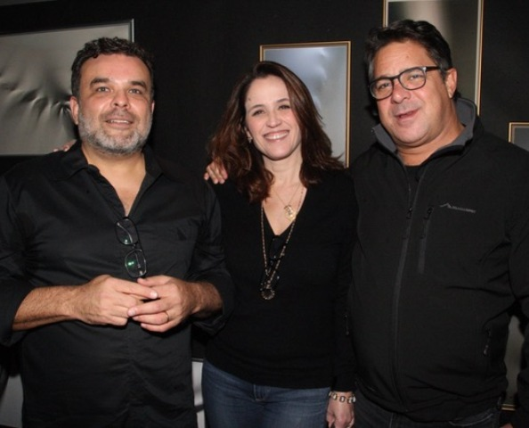 Ariosto Amado com o casal Ana Luíza Guimarães e Rodolfo Figueira de Mello