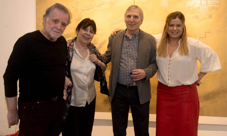 Adriano de Aquino, Carmen e Carlos Zilio com Cassia Bomeny / Foto: Cristina Lacerda