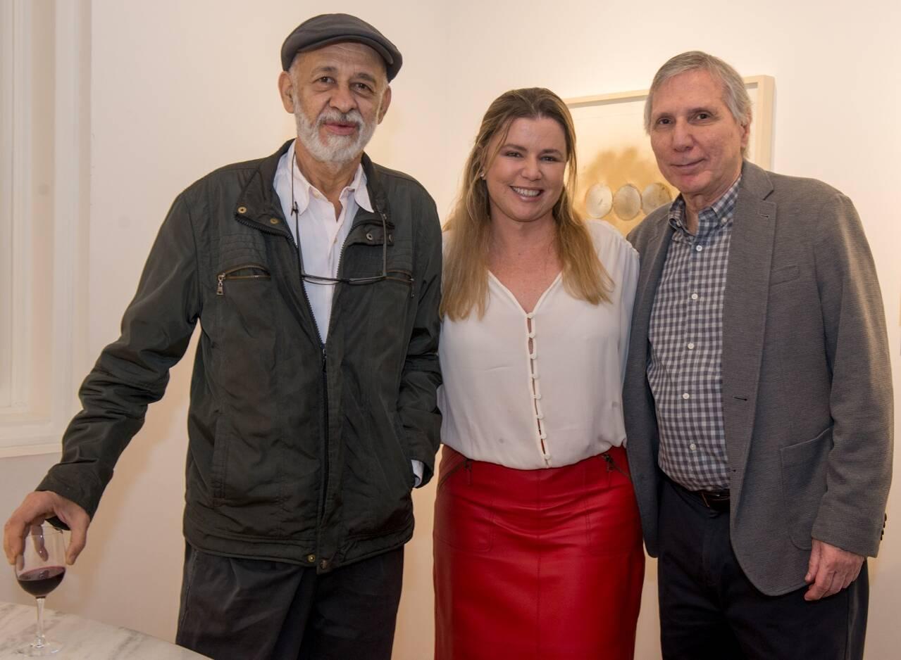 Cildo Meireles, Cassia Bomeny e Carlos Zilio / Foto: Cristina Lacerda