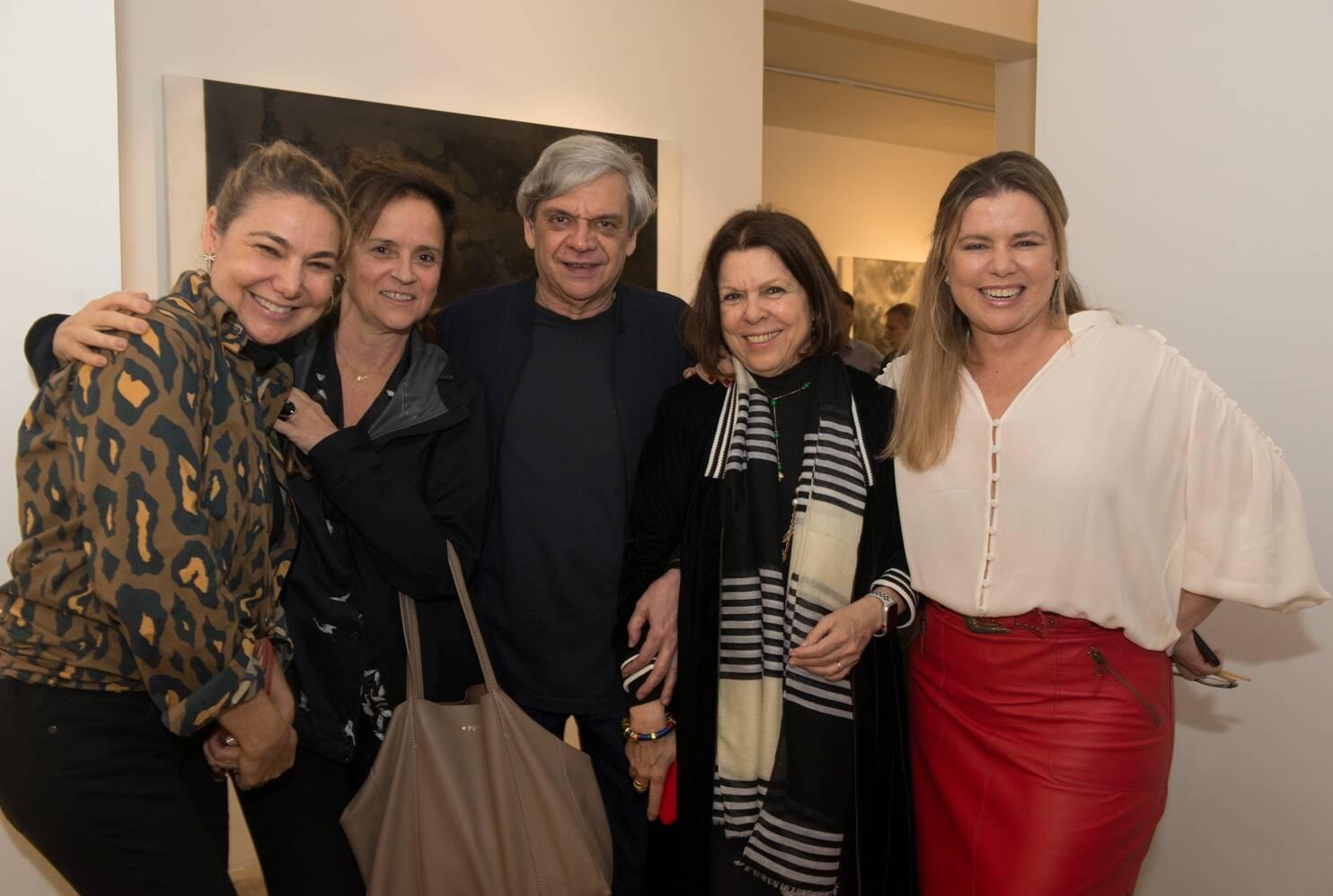 Marcia Müller, Patricia Quentel, Ronaldo Brito, Vanda Klabin e Cassia Bomeny / Foto: Cristina Lacerda