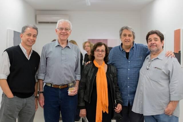 Luiz Baltazar, Paulo Bertazzi, Delfina de Araújo, Waltércio Caldas e Sérgio Araújo