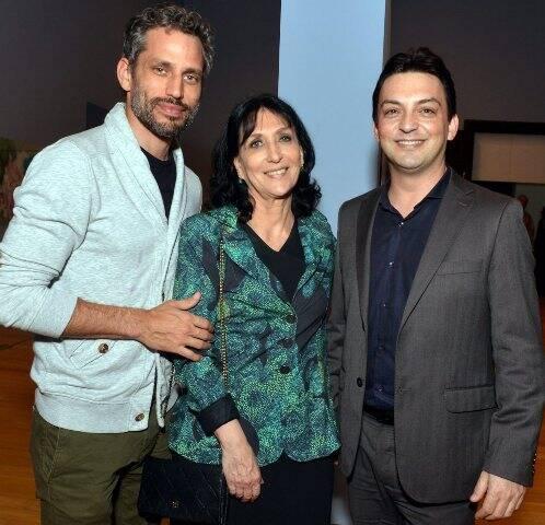 Gabriel e Denise Mattar com Fabio Cunha