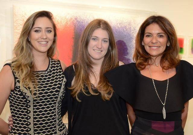 Maria Manoela Vieira com Vanessa e Jacqueline Plass