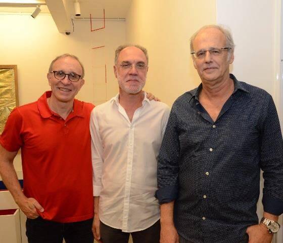 Marcio Fainziliber, Ângelo Venosa e BEnny Palatnik