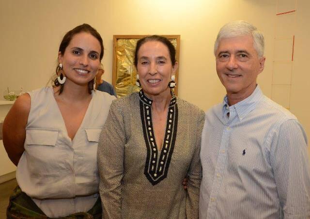 Patricia Fainziliber com Marina e Daniel Sauer