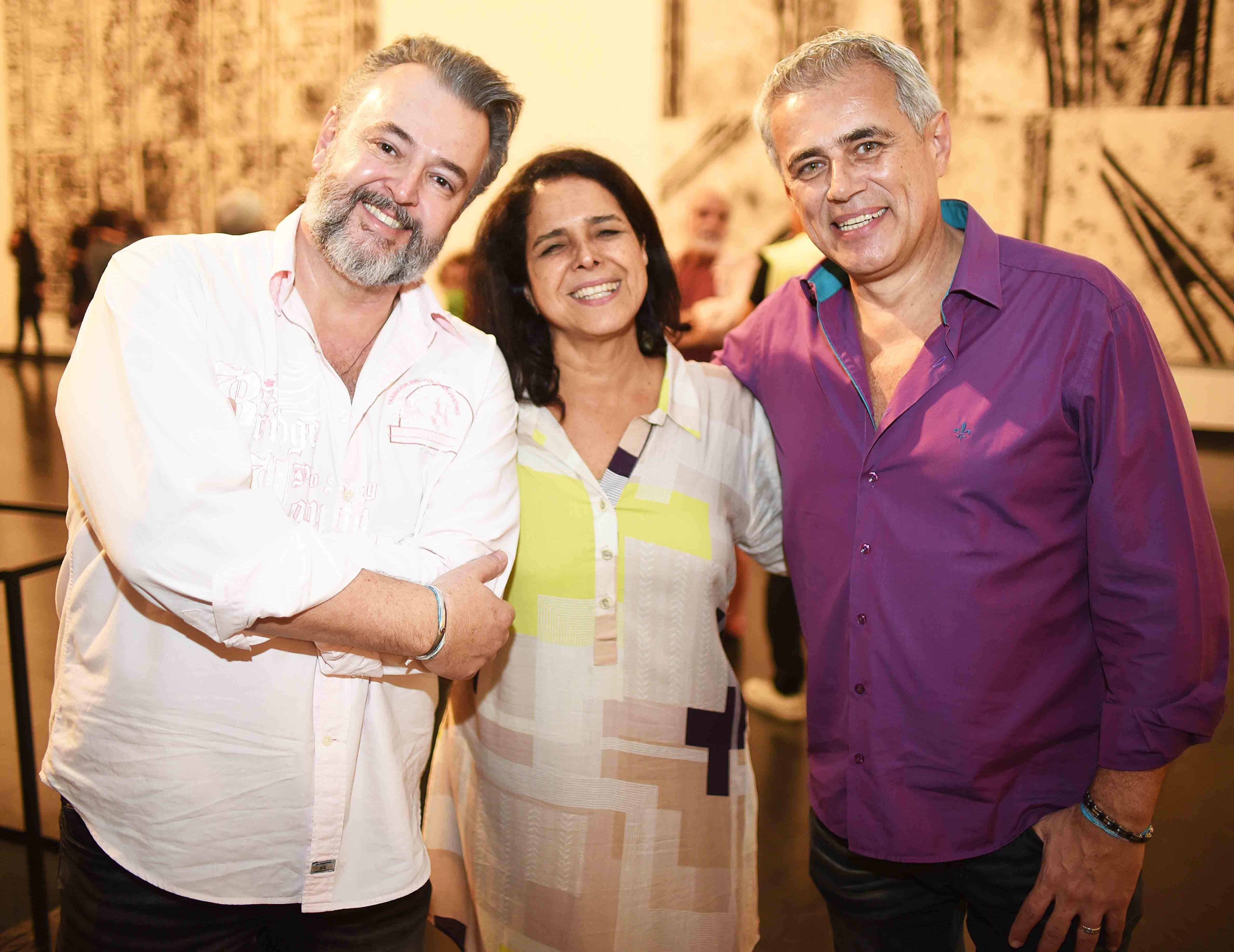 Fernando Grosso, Bia Vergara e Sergio Gonçalves /Foto: Ari Kaye