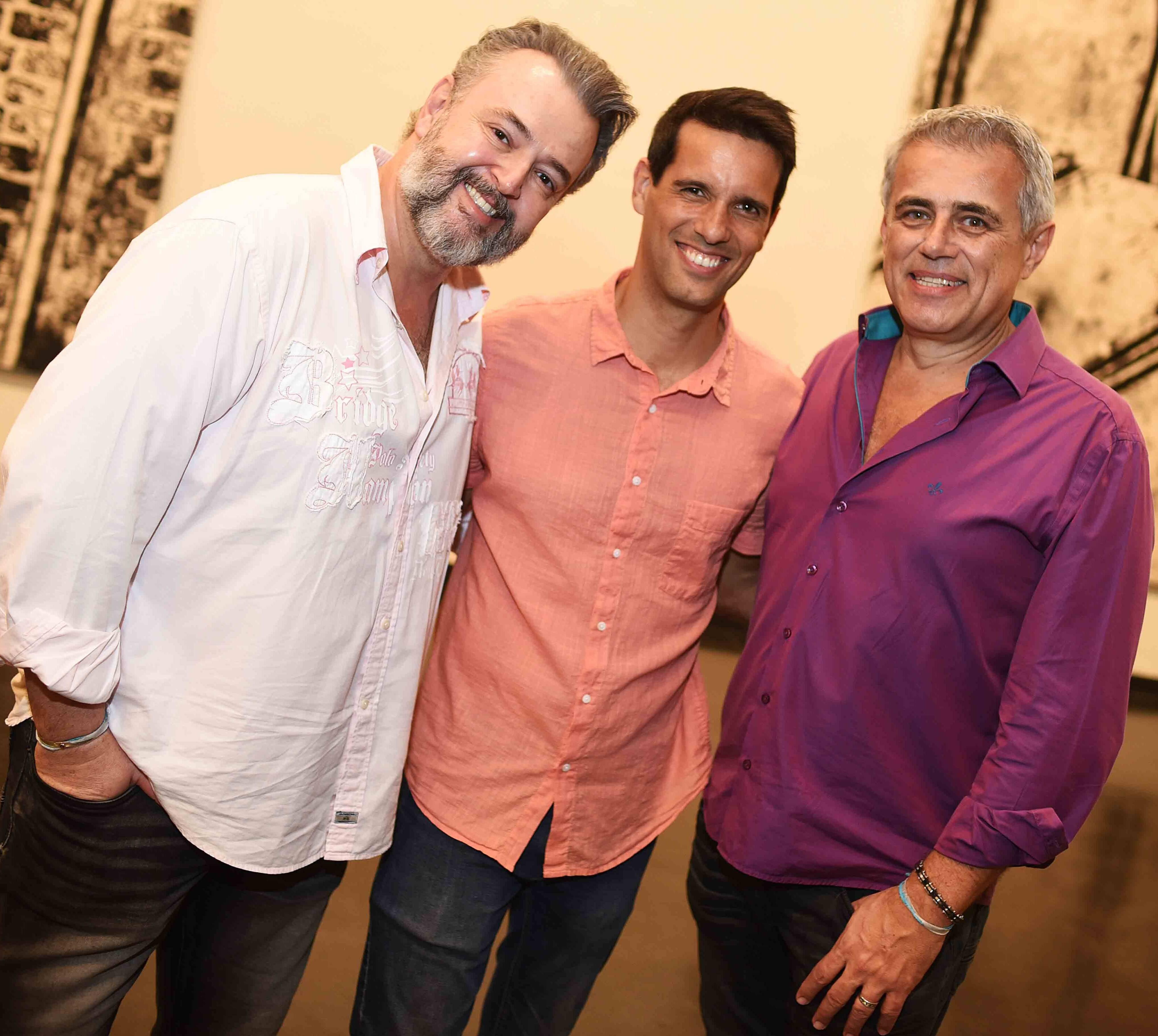 Fernando Grosso, João Vergara e Sergio Gonçalves /Foto: Ari Kaye