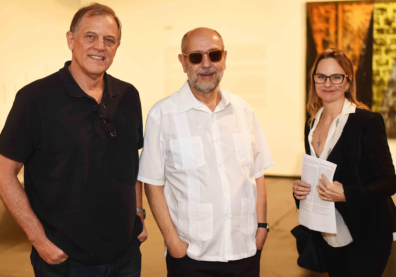 Laerte Britto, Fernando Cocchiarale e Ana Beatriz Britto