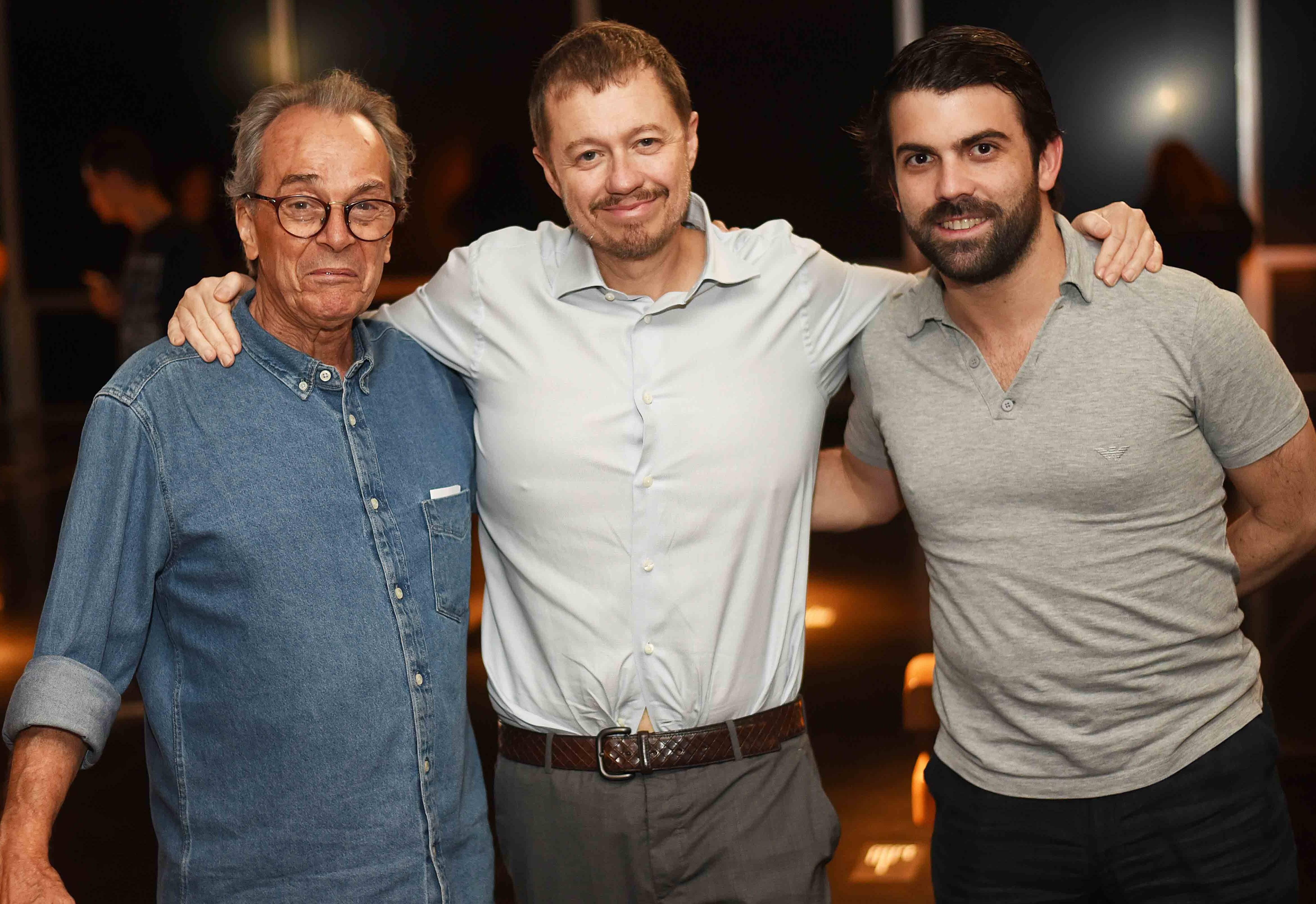 Tulio Mariante, Paulo Vieira e Bernardo Leão /Foto: Ari Kaye