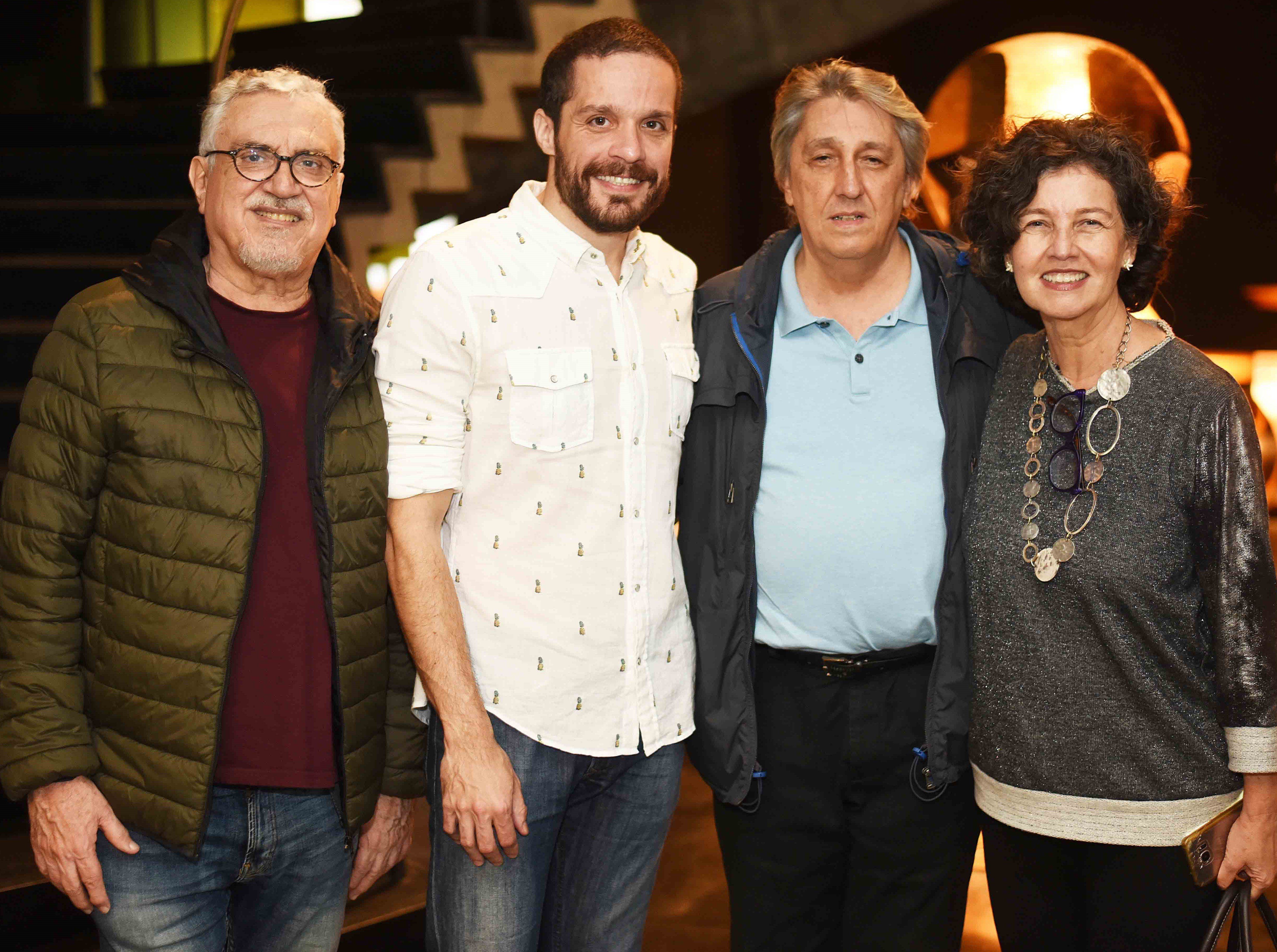 Walter Clemente, Hugo Bianco, Waltércio Caldas e Claudia Noronha /Foto: Ari Kaye