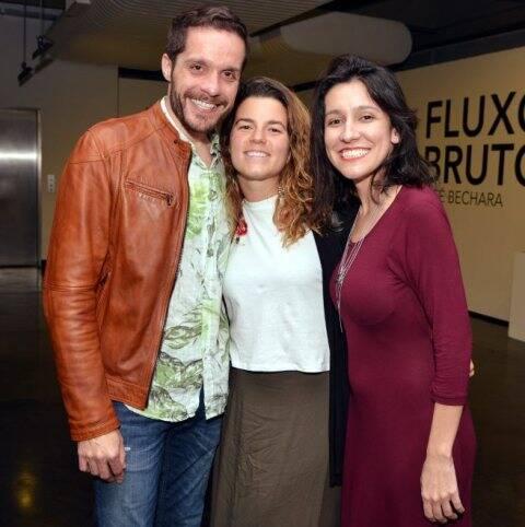 Hugo Bianco, Maria Amorim e Juliana Santos