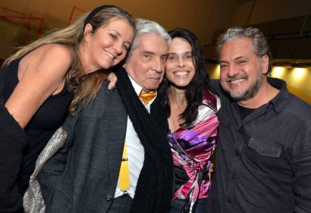 Priscilla Rozenbaum, Domingos de Oliveira, Paula Fiuza e Breno Silveira