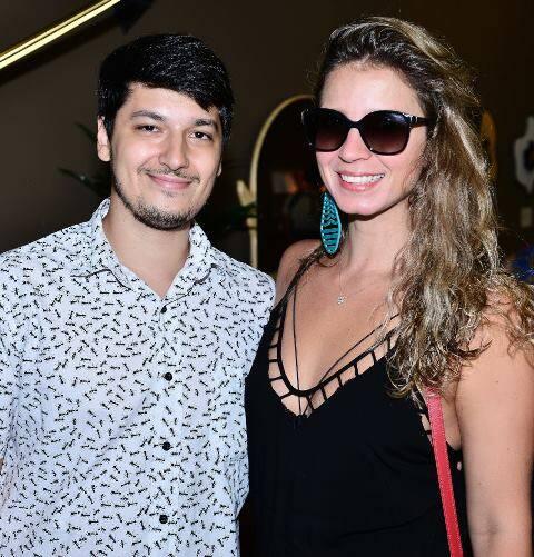 Caio Bahouth e Aline Araújo