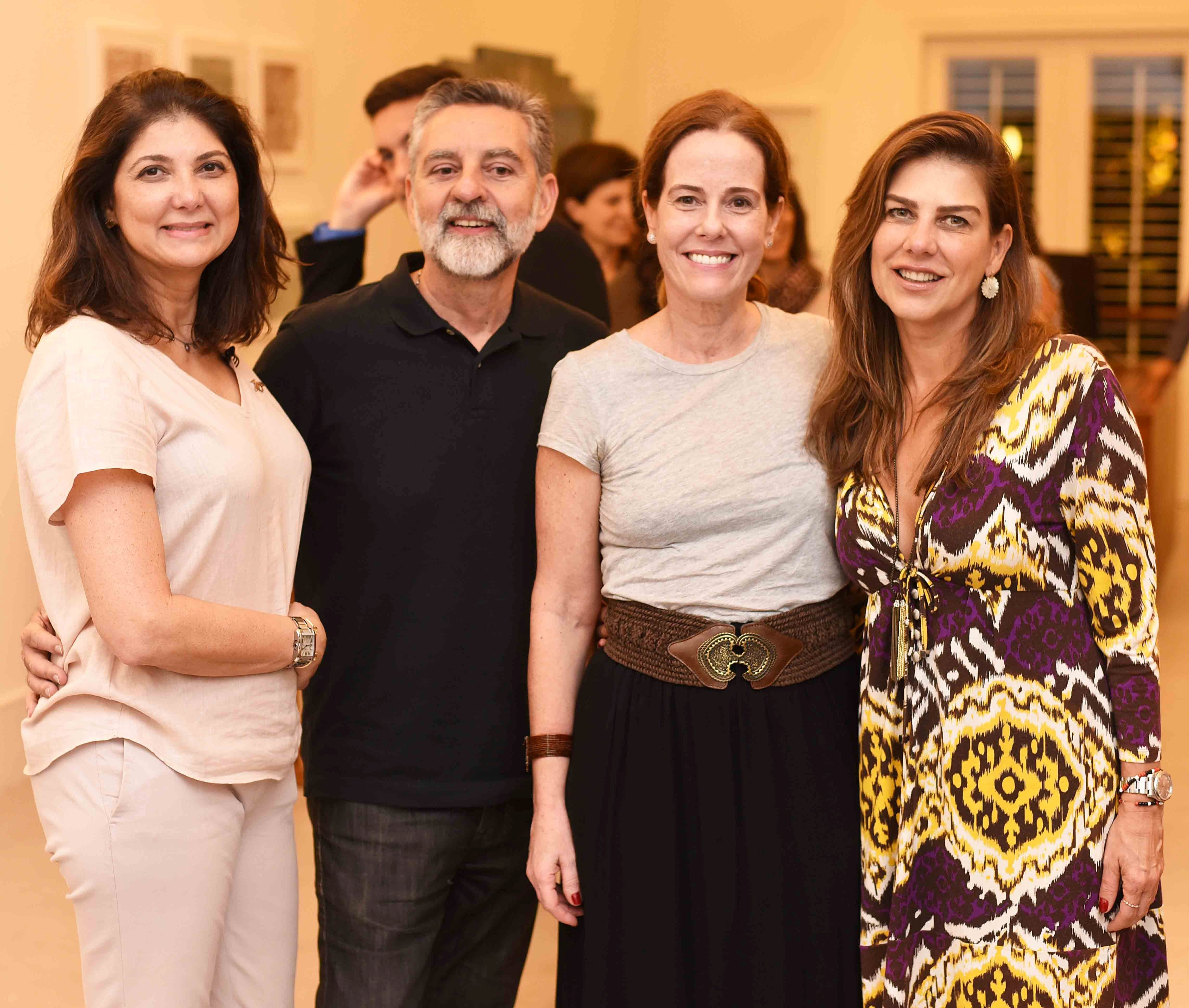 Fernanda Pessoa de Queiroz, Ivan Rezende, Andrea De Baere e Tininha Tostes/ Foto: Ari Kaye