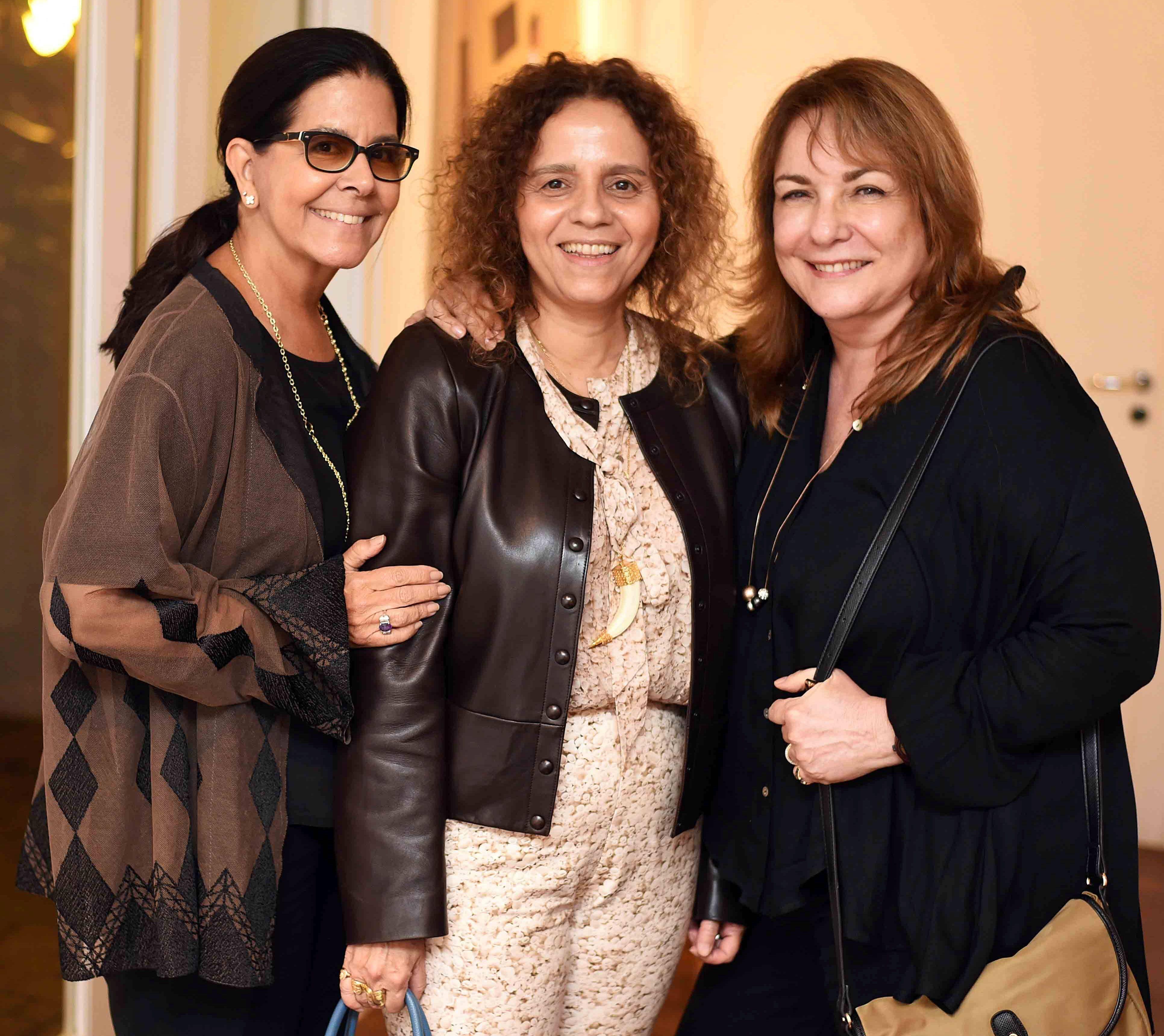 Lia Siqueira, Beatriz Milhazes e Bia Correa do Lago/ Foto: Ari Kaye