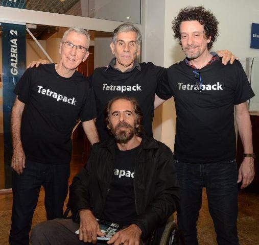 Alex Hamburguer, Alexandre Dacosta, Ricardo Basbaum e Maurício Ruiz