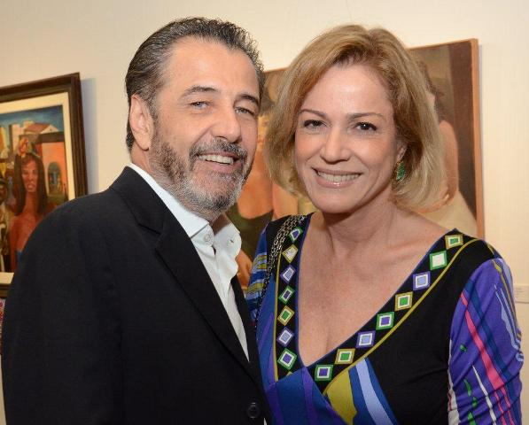 Claudio Pereira e Márcia Peltier