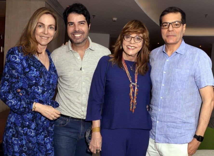 Patricia Kogut, Alex Lerner, Glória Perez e Ali Kamel /Foto: Cristina Granato