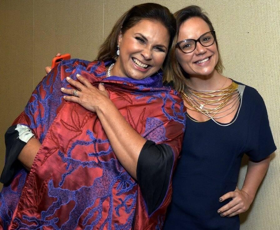 Fafá de Belém e Paula Simonsen /Foto: Cristina Granato
