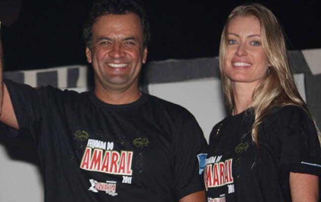 Aécio Neves e sua mulher, Letícia Weber
