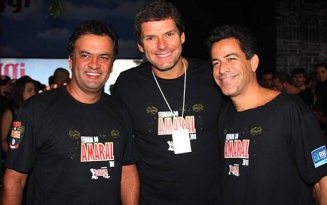 Aécio, Alexandre Accioly e Luiz Calainho