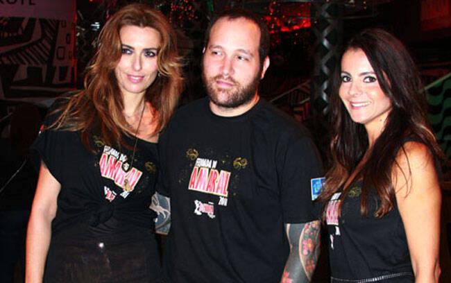Chiara Gadaleta, que tem um trabalho muito legal com moda sustentável,  Daniel Klajmic e Isabela Menezes