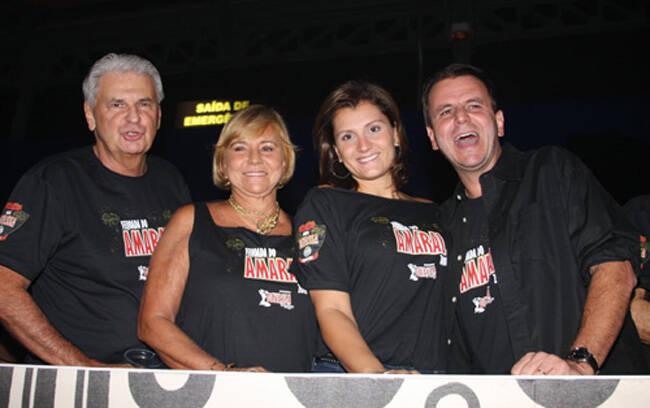Valmar, Consuelo, Cris e o prefeiro Eduarod Paes
