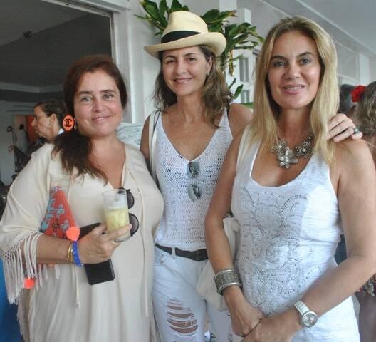 Valéria, Elisa Sandoval e Lulu Albuquerque
