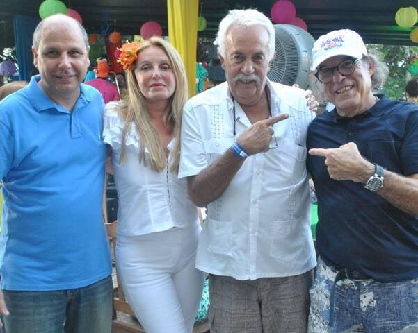 Marco Simões, Lydia Valansi, Carlos Vergara e Jorge Jaber