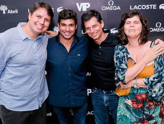Gustavo Fernandes, Felipe Bronze, Luis Nachbin e Olívia Guimarães